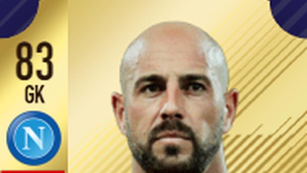 Portero: Pepe Reina - Napolés - Serie A