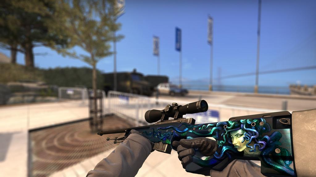 AWP | Medusa - 1.785$ es el precio medio de este rifle francotirador que te dejará de piedra.