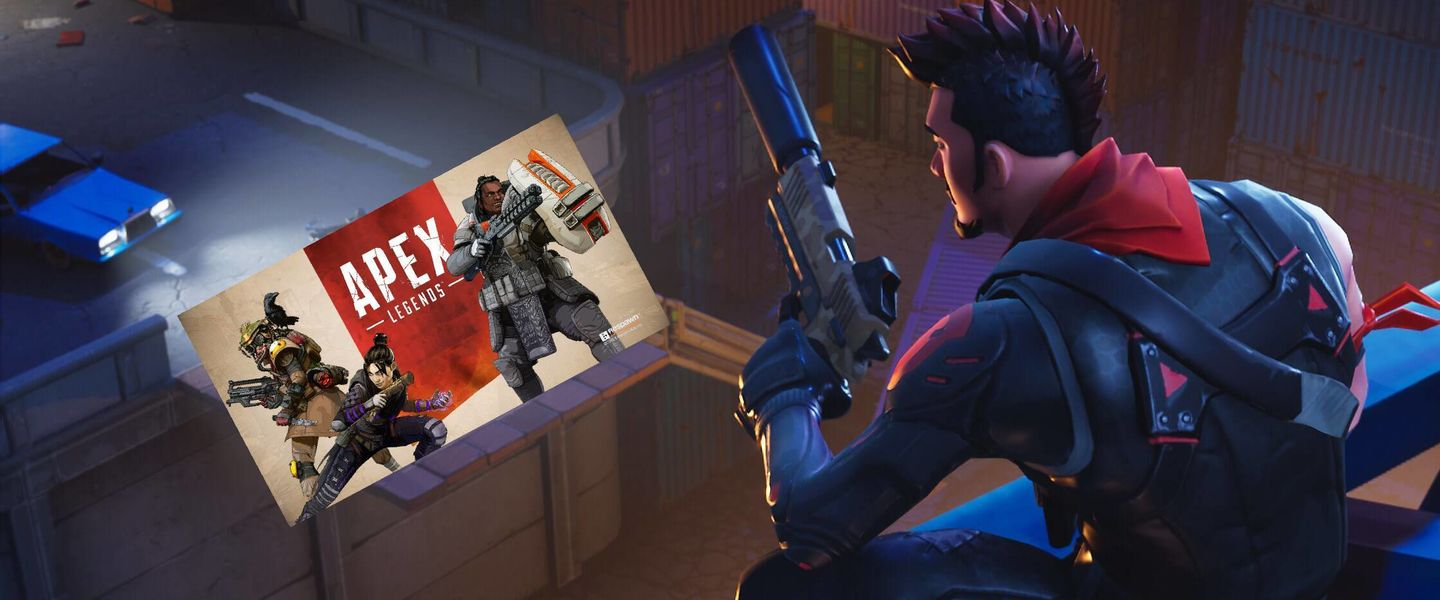 Fortnite se la lía a Apex Legends