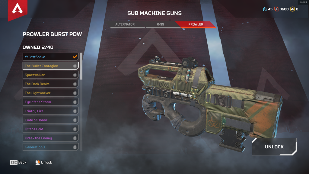 Prowler Burst Pow: The Bullet Contagion