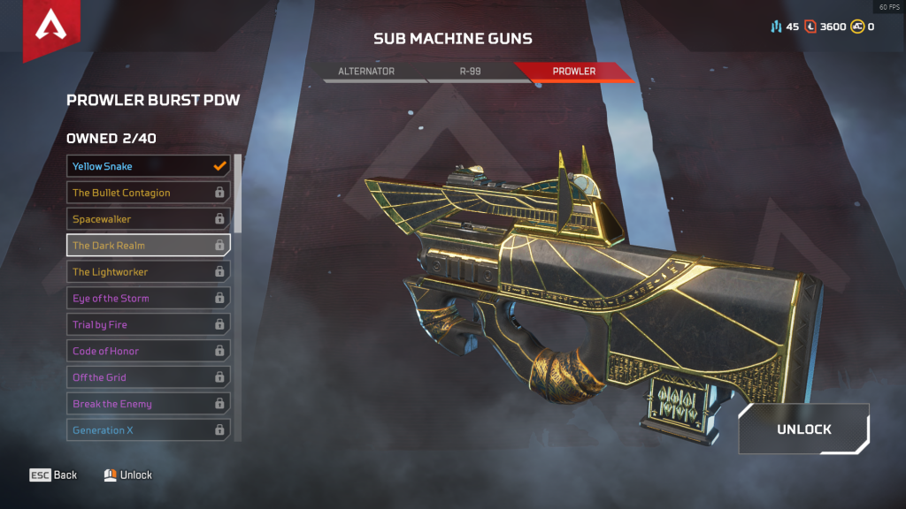 Prowler Burst Pow: El Reino Oscuro