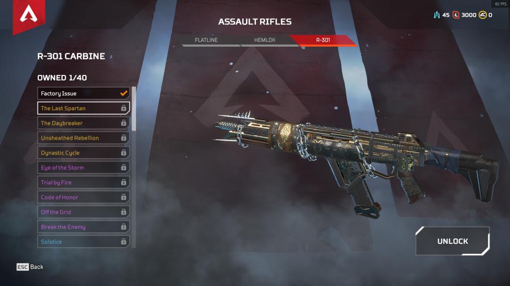 R-301 Carbine: El Último Espartano