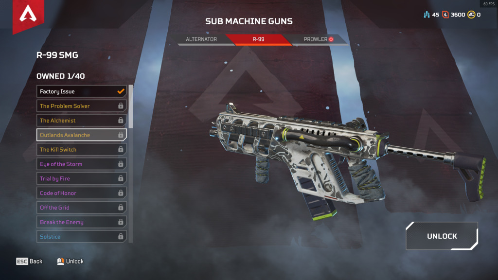 R99 SMG: Outlands Avalanche