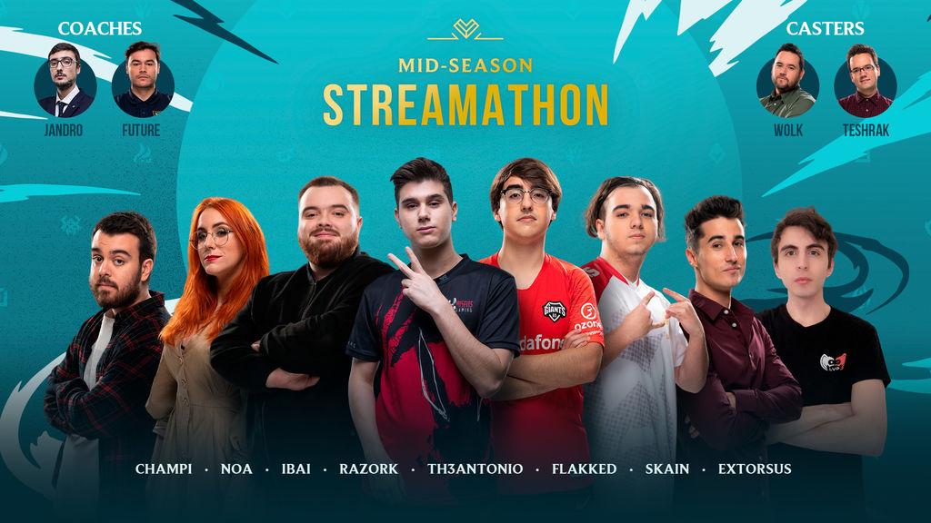 Este es el equipo español para el Mid-Season Streamathon de League of Legends