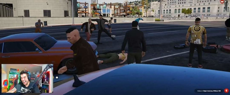 La última locura de AuronPlay en el roleplay de GTA V - Movistar ...